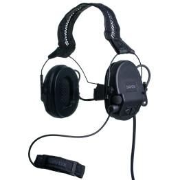 SAVOX NOISE-COM 200 Electret throat mic, Neck band, ODU 14 PIN, Binaural