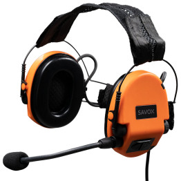 SAVOX NOISE-COM 200 Electret boom mic, Neck band, QR4