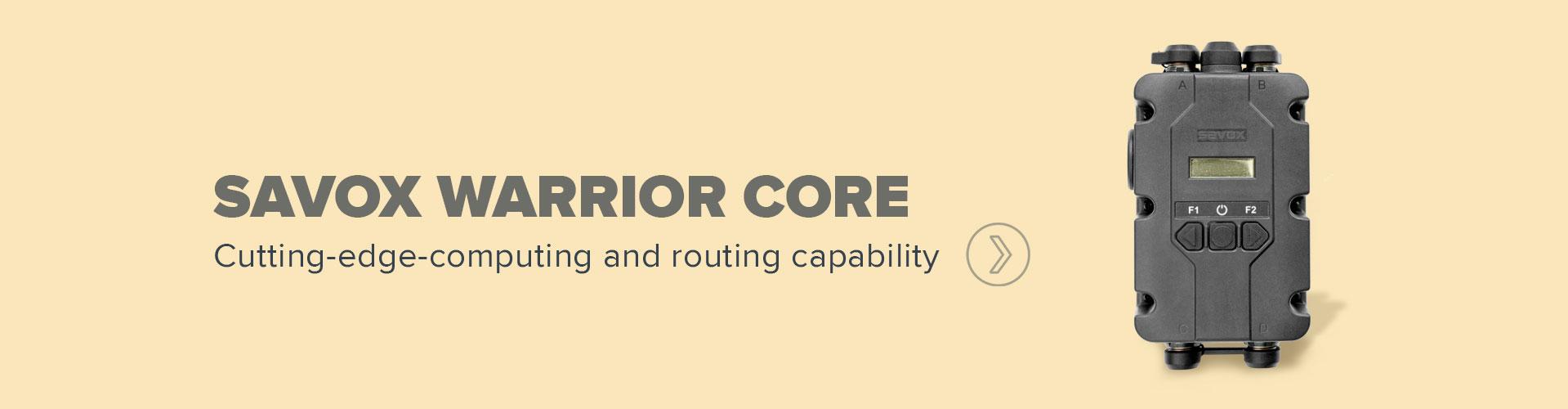 Savox Warrior Core banner